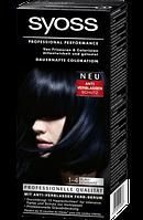 Syoss Coloration 1-4 Blauschwarz - Краска для волос оттенок 1-4 сине-черный, 1 шт.