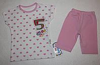 Комплект для девочек: футболка и бриджи 1, 2, 3 года