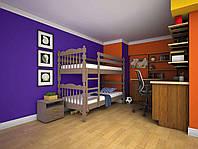 Кровать детская трансформер 2 90х200 (Бук)
