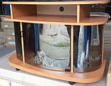 Тумба под ТВ Монтеррей стеклянная, отсеки для техники, фото 5