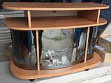 Тумба под ТВ Монтеррей стеклянная, отсеки для техники, фото 2