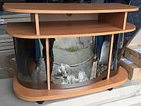 Тумба под ТВ Монтеррей стеклянная, отсеки для техники