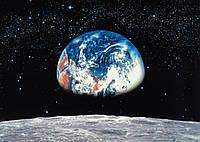 Фотообои бумажные на стену 388х270 см 8 листов: Земля и Луна. Komar 8-019