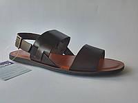 Кожаные мужские стильные коричневые сандалии Inblu