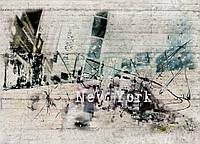 Фотообои бумажные на стену 368х254 см 8 листов: Черно-белый Нью Йорк. Komar 8-315