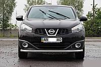 Кенгурин (защита переднего бампера) Nissan Qashqai (2014+)