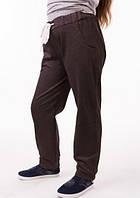 Спортивные штаны детские для девочки на манжетах серые трикотажные двунитка 00-05