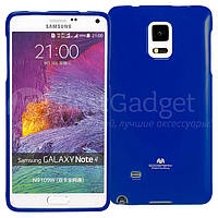 Чехол Goospery Jelly Mercury для Samsung Galaxy Note 4 N910H синий