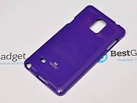 Чехол Goospery Jelly Mercury для Samsung Galaxy Note 4 N910H фиолетовый