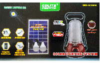 Фонарь-лампа GD Lite GD-8588, Солнечная батарея, USB