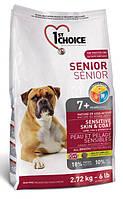 Корм для пожилых собак с ягненком и рыбой 1st Choice Senior All Breed