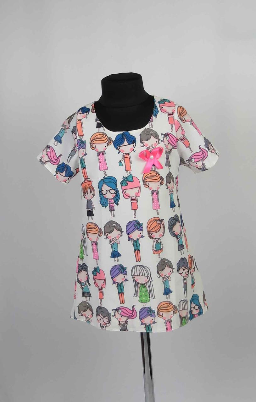 Платье шифон с застежкой на спине размеры 98-116см, фото 1