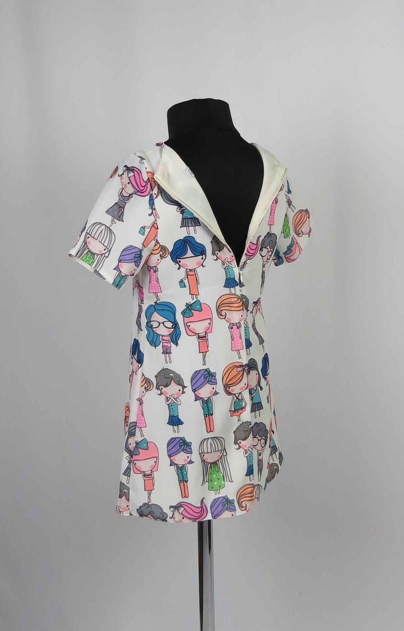 Платье шифон с застежкой на спине размеры 98-116см, фото 3