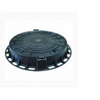 Люк канализационный пластиковый ( полимерный ) 2тн. черный с замком