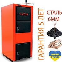 Котел твердотопливный стальной  ATON TTK Традиция 8-12