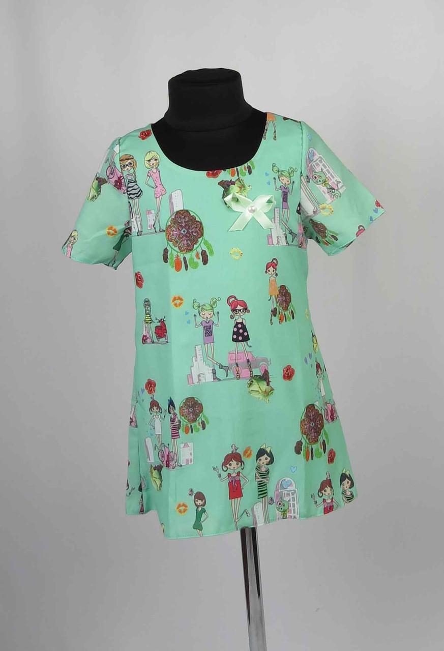 Платье шифон с застежкой на спине размеры 98-116см, фото 2