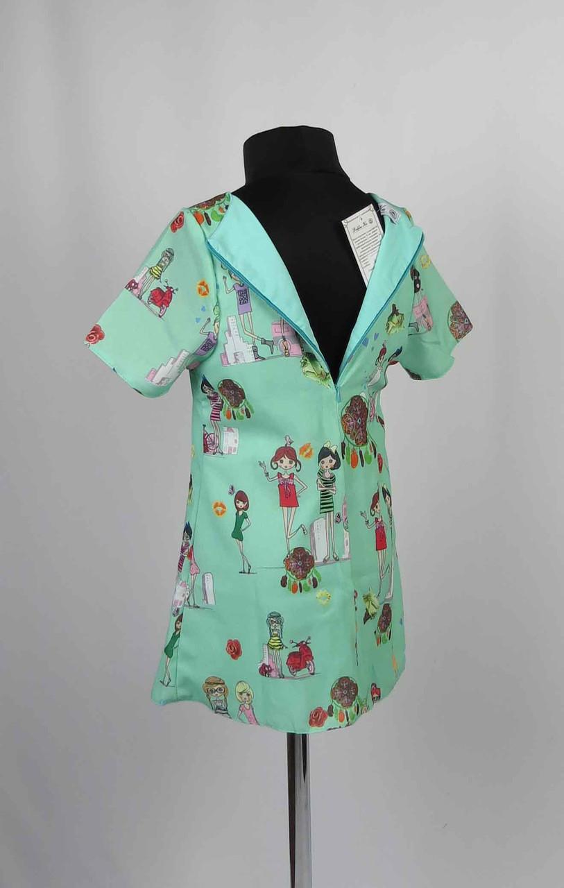 Платье шифон с застежкой на спине размеры 98-116см, фото 4