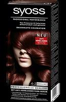 Syoss Coloration 4-2 Mahagoni - Краска для волос оттенок 4-2 красное дерево, 1 шт.