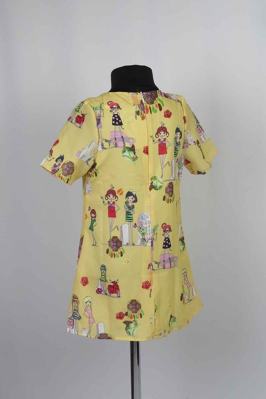 Платье  с застежкой на спине размеры (крепшифон) 98-116см, фото 2