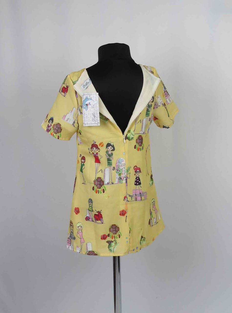Платье  с застежкой на спине размеры (крепшифон) 98-116см, фото 3