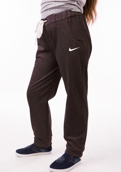 Спортивные штаны детские Nike (Найк) для девочки на манжетах серые трикотажные двунитка  Украина