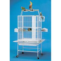 Вольер клетка для средних, крупных попугаев БЕЛЫЙ ЦВЕТ 66*51*168 см King's Cages