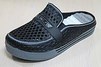 Детские двухцветные кроксы шлепанцы на мальчика, пляжная обувь тм Super Gear р.30,32,33,34,35