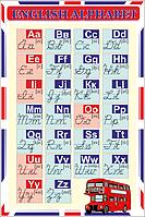Стенд English alphabet (англійський алфавіт) (70306.29)