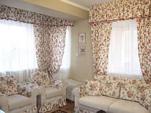 Штори в стилі прованс, бавовна 70-100 % з водовідштовхувальним (тефлоновим покриттям) (Туреччина)