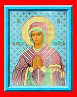 """Схема, частичная вышивка бисером, габардин, икона Божией Матери """"Умягчение злых сердец"""""""