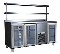 Стол холодильный со стеклянными дверями 4GNG/NT Полюс
