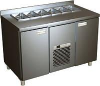Стол холодильный для салатов с металлическими дверями SL 2GN Carboma