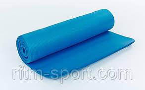 Коврик для фитнеса 10мм с фиксирующей резинкой , фото 2