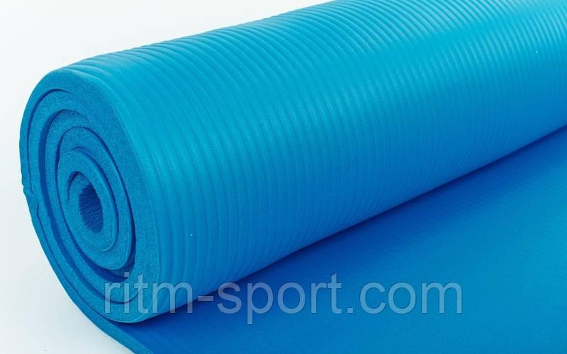 Коврик для фитнеса 10мм с фиксирующей резинкой