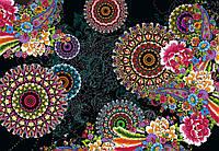 Фотообои бумажные на стену 368х254 см 8 листов: Цветочные круги. Komar 8-939