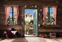 Фотообои бумажные на стену 368х254 см 8 листов: Хижина в горах. Komar 8-955