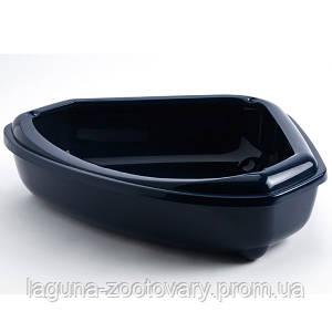 Moderna МОДЕРНА КОЗИ туалет для кошек, угловой с бортиком, 55х45х14 см/цвет кобальт синий