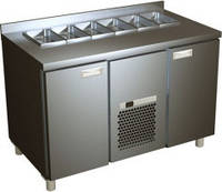 Стол холодильный для салатов с металлическими дверями SL 3GN Полюс
