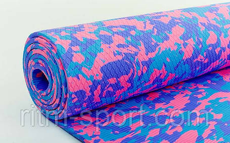 Коврик для йоги Yoga mat TPE 6 мм, фото 2