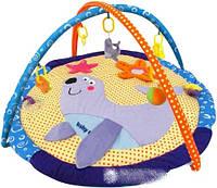"""Развивающий коврик Baby Mix """"Морской котик"""" TK/3298С с дугами и подвесными игрушками"""