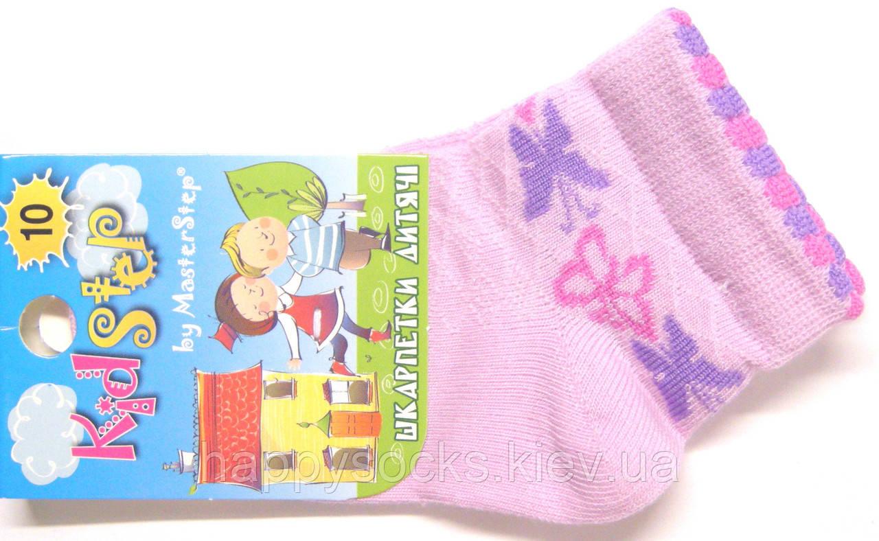 Детские носки в сетку для маленьких сиреневого цвета