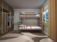 Кровать детская Комби 2 90х200 (Дуб)