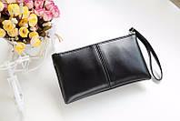 Стильный женский клатч кошелек черного цвета