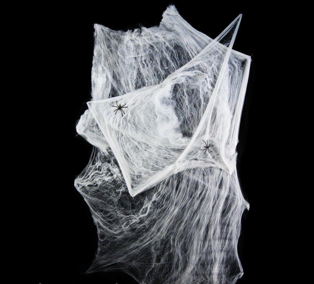 Паутина мягкая + 2 паука, товары для Хэллоуина, павутина 100х150 см