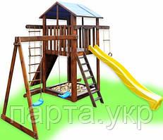 """Детский игровой домик """"Фортуна"""" с качелями"""
