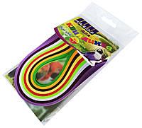 Папір для квілінгу ПТАХИ 9 кольорів (3мм х 300мм) для створення панно з паперових стрічок, фото 1