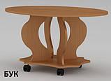 Овальный журнальный столик Венеция из ДСП и МДФ в гостинную, фото 4
