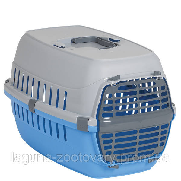 Moderna МОДЕРНА РОУД-РАННЕР 1 переноска для собак и кошек, с пластиковой дверью, 51х31х34 см, синий