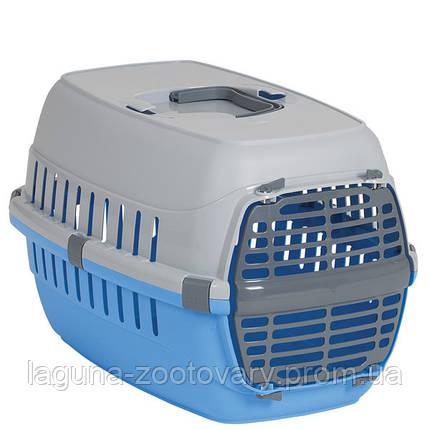 Moderna МОДЕРНА РОУД-РАННЕР 1 переноска для собак и кошек, с пластиковой дверью, 51х31х34 см, синий, фото 2