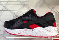 Женские кроссовки хуарачи Nike huarache Черно-красные